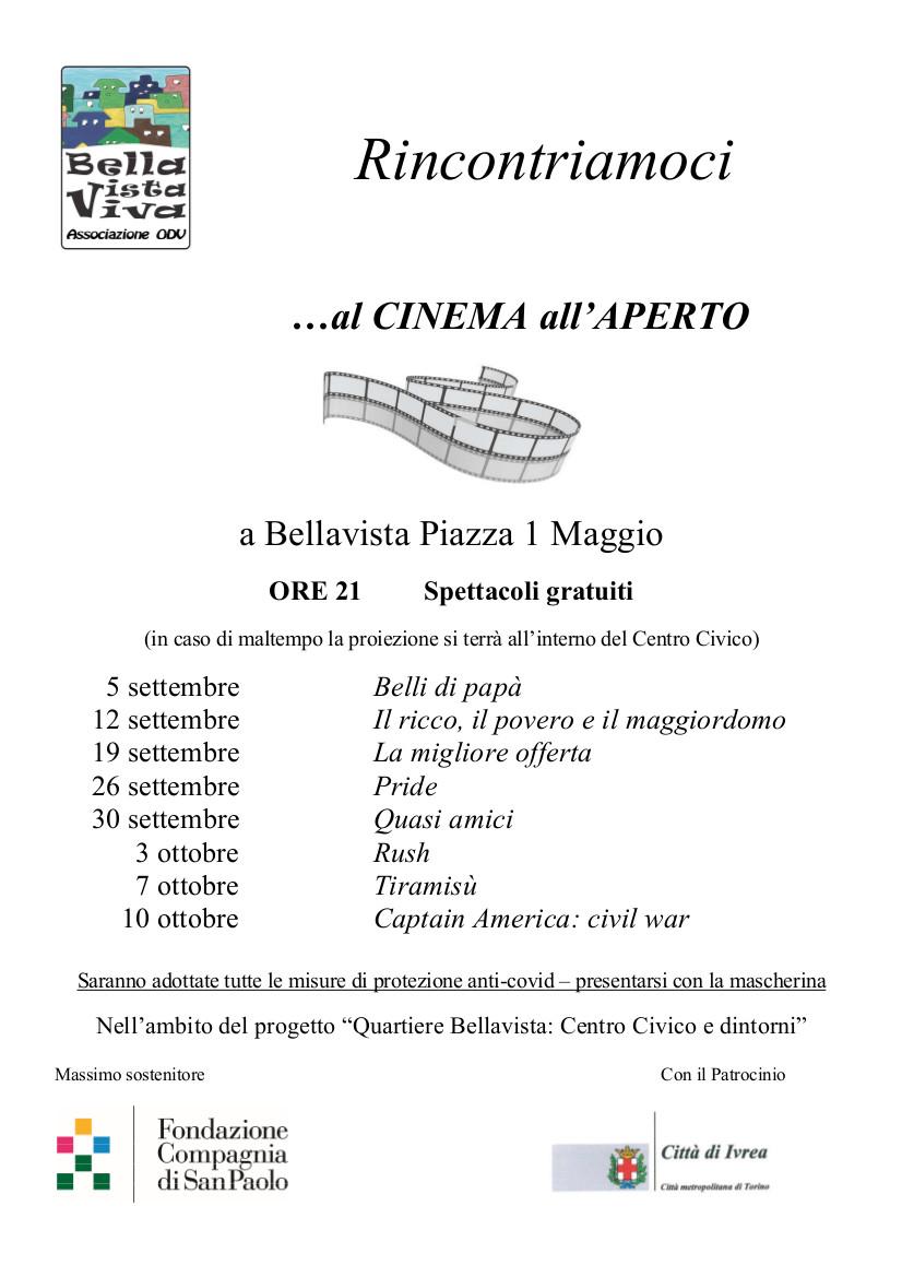 Cinema all'aperto a Bellavista