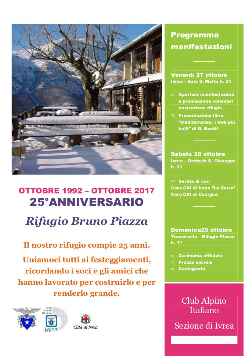 Anniversario Rifugio Bruno Piazza